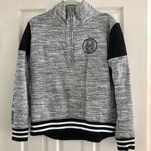 VSPINK High Low Quarter Zip with Bling S